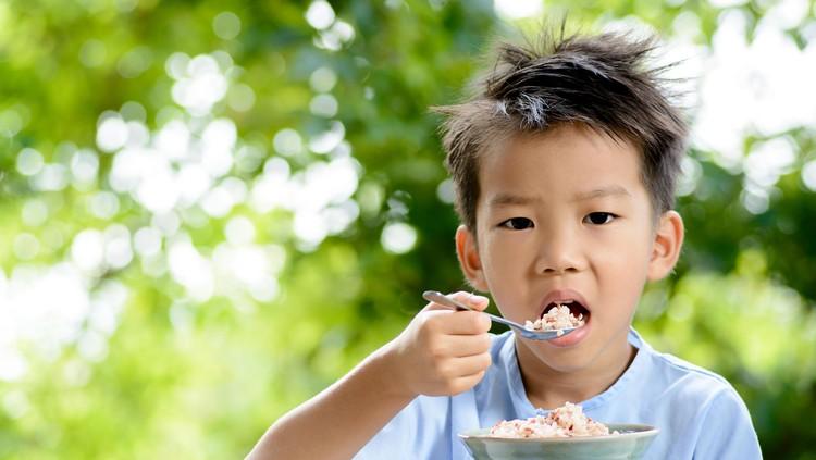 Si kecil sudah terbiasa sarapan, Bun? Eits tapi jangan lupa memasukkan sumber karbohidrat di menu sarapannya ya.