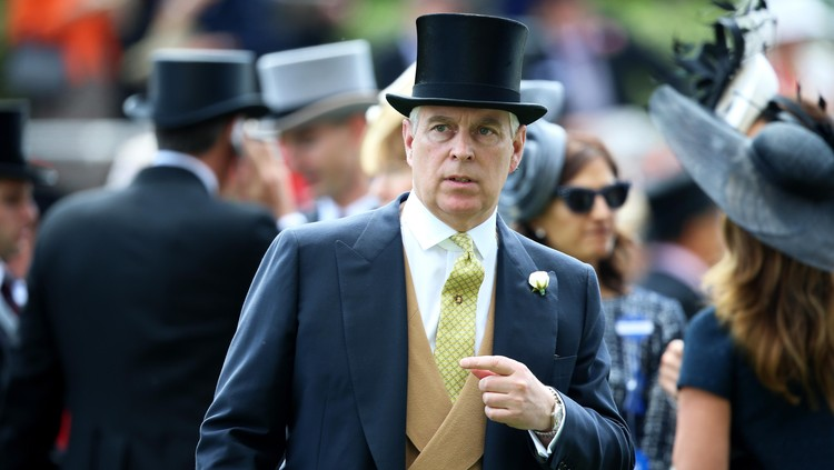 ASCOT, ENGLAND - JUNE 20:  Prince Andrew, Duke of York attends day four of Royal Ascot 2014 at Ascot Racecourse on June 20, 2014 in Ascot, England.  (Photo by Chris Jackson/Getty Images for Ascot Racecourse)