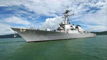 China Murka Kapal Perang AS Transit di Selat Taiwan