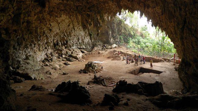 Gua Liang Bua di Flores, tempat penemuan fosil Manusia Hobbit atau disebut juga Manusia Flores. (Dok. wikimedia.commons.org/Flickr/Rosino)