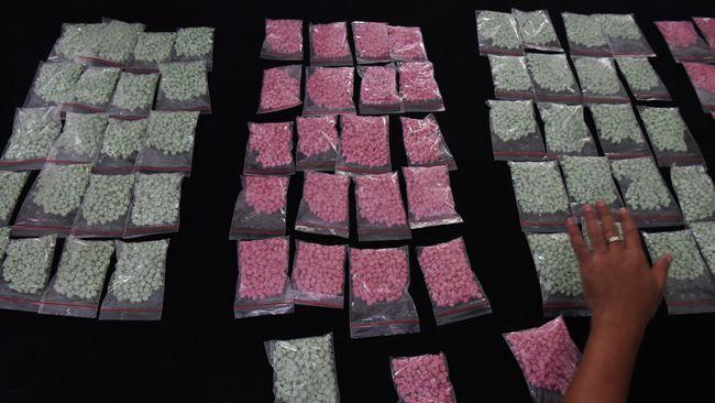 Industri rumahan di Jakpus hasilkan 3.000 butir inex palsu berbahan Diazepam hingga Pil Kina namun tetap punya efek mirip narkoba.