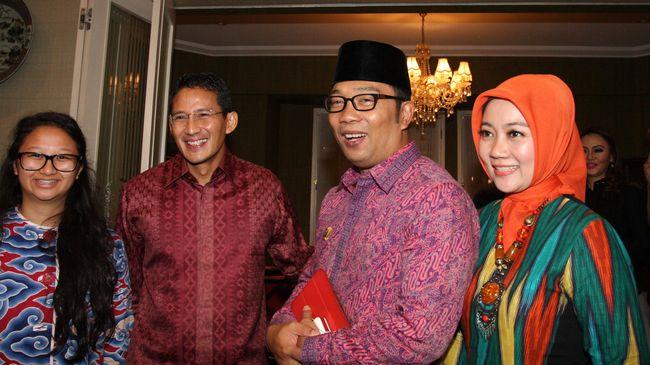 Sandiaga Uno dan Ridwan Kamil saling membuka opsi untuk berpasangan di Pilpres 2024 mendatang.