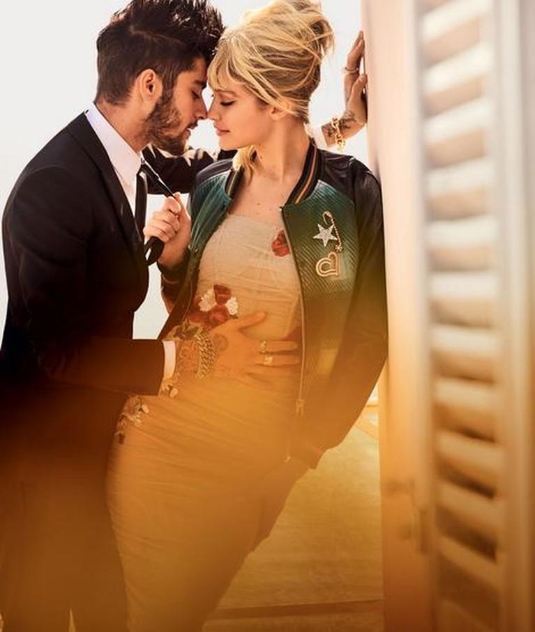 Gigi Hadid dan Zayn Malik di majalah Vogue