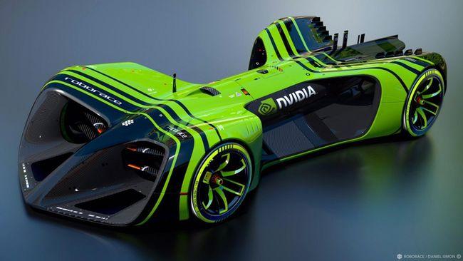 Nvidia membuat prosesor Drive PX 2 yang akan digunakan sebagai otak kecerdasan buatan pada mobil balap otonom di Kejuaraan Roborace.