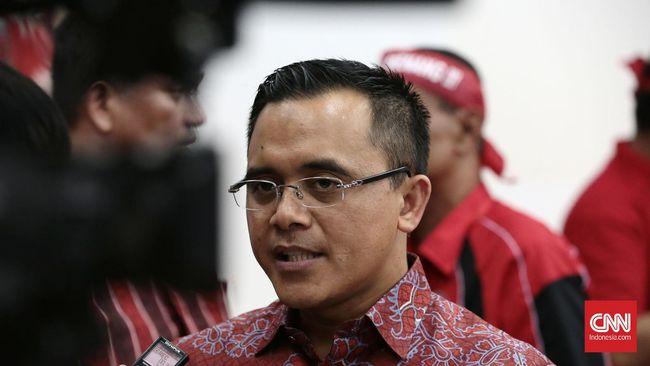 Bupati Banyuwangi Azwar Anas pada gelaran pelatihan Pemenangan Pilkada untuk PDI Perjuangan dikantor DPP PDI-P, Lenteng Agung.Jakarta.Kamis 7 April 2016.CNN Indonesia/Andry Novelino.