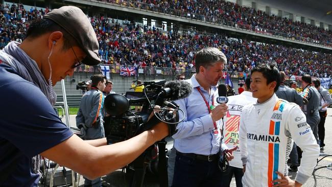 Rio Haryanto kehilangan kecepatan di akhir-akhir balapan di GP China sehingga ia menyelesaikan balapan di posisi ke-21.