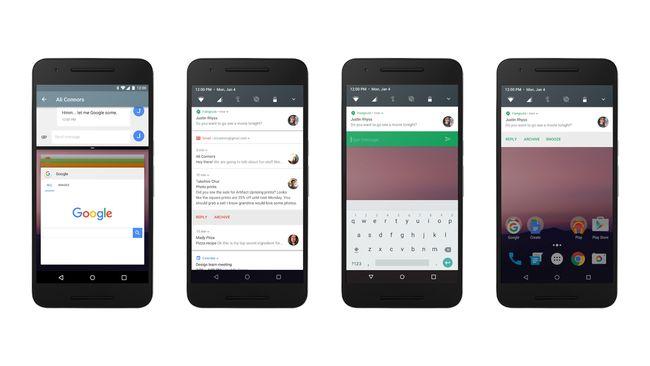 Beberapa fitur Android N diperkenalkan dalam konferensi pengembang aplikasi Google I/O di Mountain View, Calfornia, Amerika Serikat.