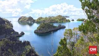 LAPAN: Kapal Misterius di Laut Raja Ampat Papua Cuma Melintas