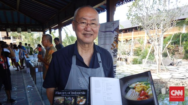William Wongso meluncur buku Flavors of Indonesia di Ubud, Bali (29/5).