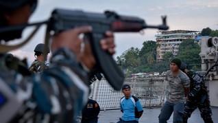 TNI AL Tangkap Empat Perompak Kapal Tanker di Perairan Batam