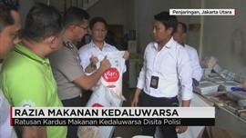 Polisi Razia Makanan Kedaluarsa