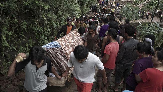 Menteri Dalam Negeri, Menteri Sosial dan Menteri Kesehatan diminta segera berkoordinasi untuk penanganan bencana longsor yang mengakibatkan puluhan orang tewas.