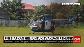 Helikopter PMI Siap Evakuasi Kecelakaan Mudik