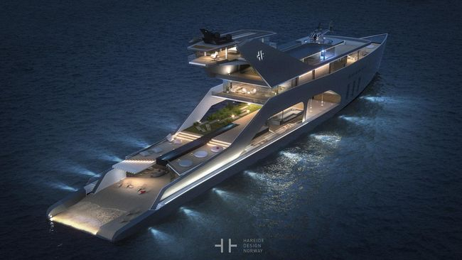 Super-Modern Yacht Dibuat Seharga Rp 2,6 Triliun