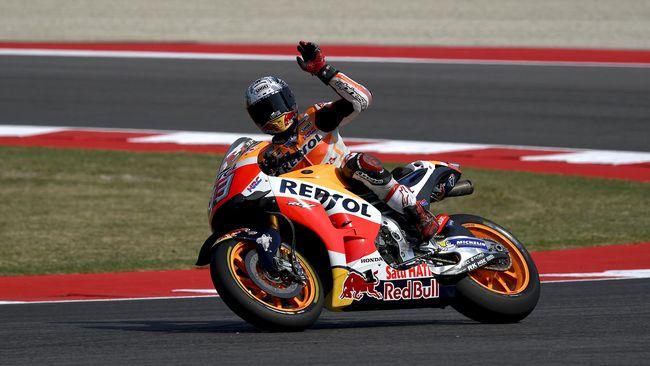 Marc Marquez berhasil memecahkan beberapa rekor yang sebelumnya dipegang Valentino Rossi pada ajang MotoGP.