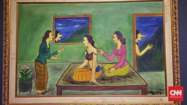 Lewat lukisannya yang dekat dengan keseharian, Otto Djaya juga bermain-main dengan banyak simbol, dan membuatnya tampak lebih jenaka.