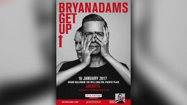 Bryan Adams siap menghibur penggemarnya di Indonesia, Senin (16/1) malam nanti di Ritz Carlton Pacific Place.