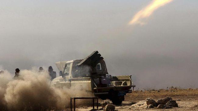 Serangan tiga buah roket menghantam dekat kantor kedutaan AS di Baghdad, Irak.