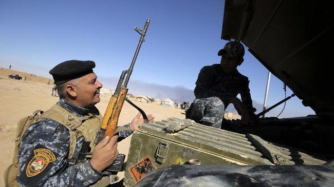 Kelompok teroris ISIS menyergap milisi Front Pasukan Rakyat (PMF) Irak yang sedang berpatroli hingga menewaskan sebelas orang.