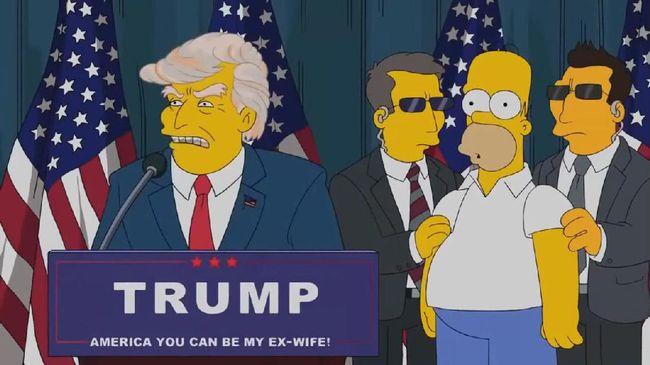 Serial animasi The Simpsons merilis 50 alasan ogah memilih Donald Trump kembali dalam pemilihan presiden Amerika Serikat