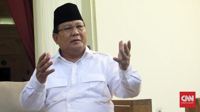 Prabowo Subianto saat berkunjung ke Istana.