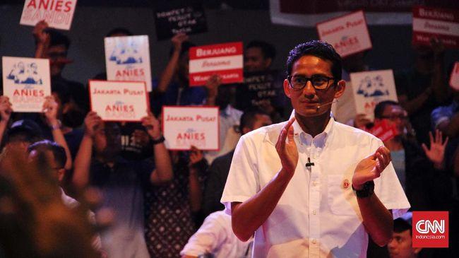 Sandi bertekad rebut suara undecided voters di Jakarta Barat. Menurut survei terakhir Charta Politika, undecided voters di Jakarta sebanyak 14.9 persen.