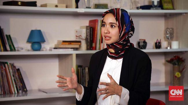 Aktris Indonesia, Laudya Cynthia Bella. CNN Indonesia/Safir Makki