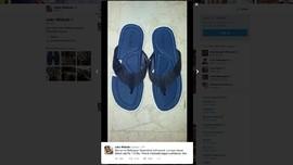 Sandal Jepit Biru Jokowi yang Bikin Heboh