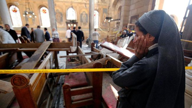Pengadilan Mesir Vonis Mati 2 Pelaku Serangan Gereja di Kairo