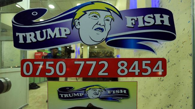 Trump Fish, restoran milik Nedyar Zawity yang berlokasi di Duhok, Irak, menyajikan menu andalan masgouf, ikan panggang bumbu rempah.