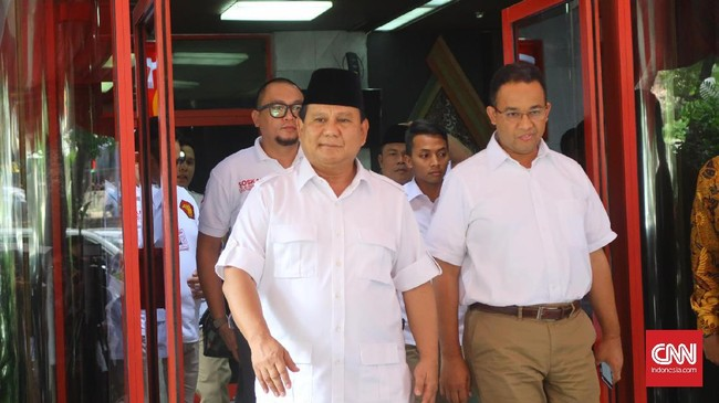 Survei LP3ES: Anies Tempel Ketat Prabowo untuk Pilpres 2024