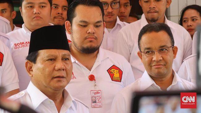Merujuk survei Parameter Politik Indonesia (PPI), Prabowo dan Anies memiliki elektabilitas paling tinggi sebagai capres dibanding tokoh lainnya.