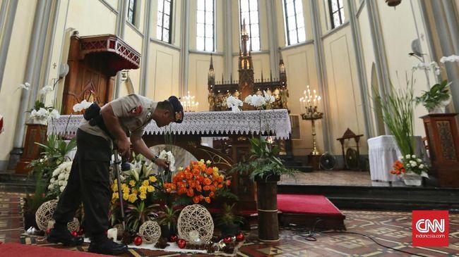 Polda Metro Jaya melakukan pengamanan 1.559 gereja di Jakarta selama Natal 2019. Sebanyak 57 di antaranya mendapatkan prioritas.