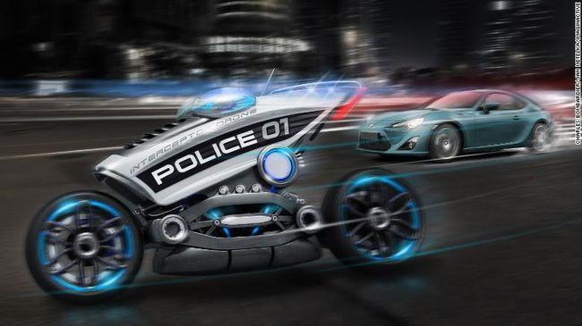Motor polisi tanpa penunggang bisa menjadi solusi kebutuhan personil yang diprioritaskan ke hal yang lebih penting daripada menilang pelanggar lalu lintas.