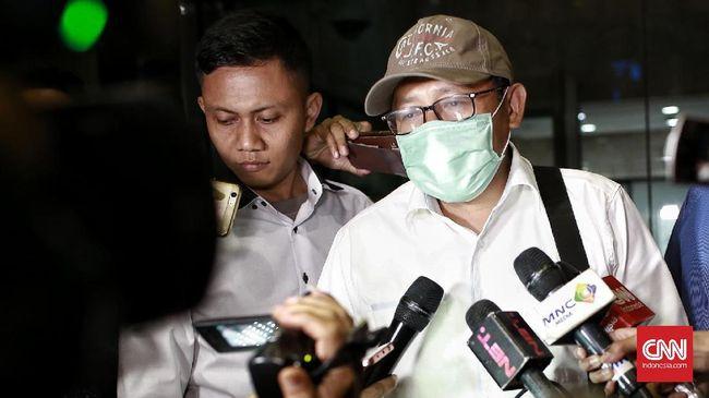 Anas diperiksa untuk tersangka Sugiharto dalam kasus dugaan korupsi pengadaan proyek e-KTP.