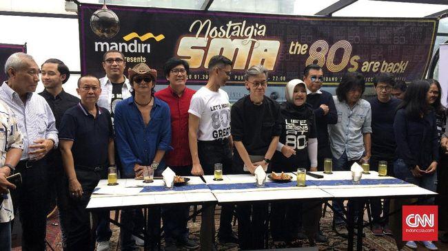 Konser '80-an akan dimeriahkan musisi seperti Daniel Sahuleka, Ahmad Albar dan Ian Antono, Denny Malik, Fariz RM, OM Pancaran Sinar Petromaks, dan lainnya.