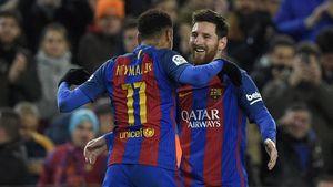 Neymar yang Pernah Dimanja Messi di Barcelona
