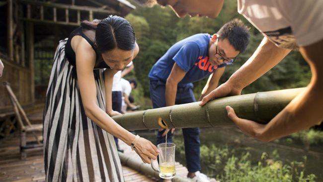 Bilah Bambu 'Penghasil' Minuman Keras China