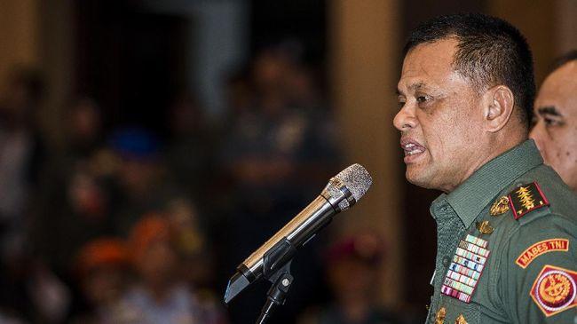 TNI mendeteksi sedikitnya 70 akun Facebook mengatasnamakan Gatot Nurmantyo yang dinilai merugikan TNI sebagai institusi dan Jenderal Gatot Nurmantyo.
