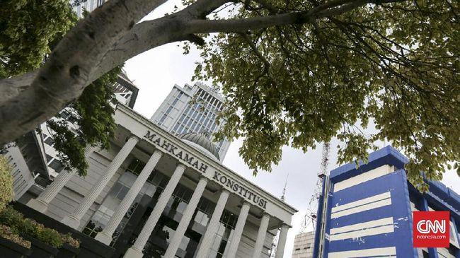 Gedung Mahkamah Konstitusi (MK) di Jakarta, Kamis (26/01).