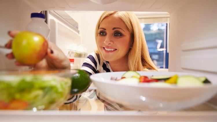 ilustrasi makanan di kulkas