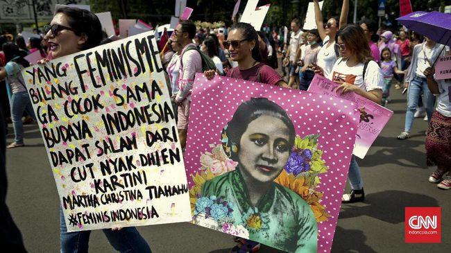 Ratusan Perempuan melakukan aksi damai