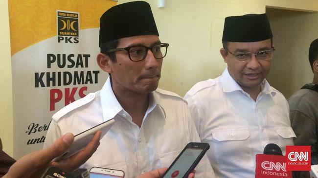 Proses hukum Sandiaga akan ditangani sesuai hukum. Sama halnya penanganan kasus penistaan agama yang menjerat Basuki Tjahaja Purnama (Ahok).