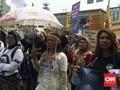 Tuntut Kesetaraan, Aktivis Perempuan Gelar Aksi Jalan Kaki