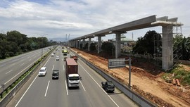Progres Pembangunan Proyek LRT Cawang-Cibubur Capai 37 Persen