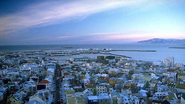 Kota Reykjavík di Islandia