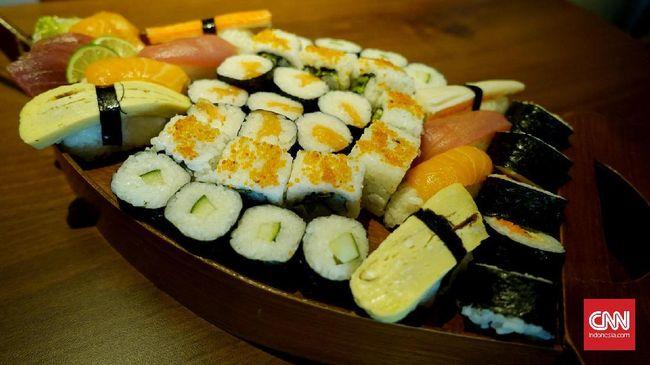Jelang Valentine, sushi kini berubah bentuk dalam formasi makanan manis dan berbahan dasar cokelat.