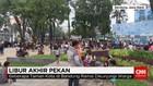 Warga Padati Taman Kota Bandung Saat Libur Panjang