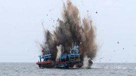 Penenggelaman Kapal Nelayan Asing Dinilai Perlu Dilanjutkan