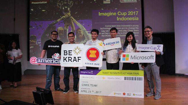 Mahasiswa ITB yang tergabung dalam tim Cimol mengembangkan aplikasi Hoax Analyzer yang mamu memilah informasi hoax dan terpilih sebagai juara Imagine Cup 2017.